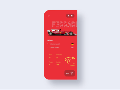 Samsung Fold | Formula 1 branding 3d illustration interaction app flat invision studio invision stats maple product swipe profile animation car f1 formula 1
