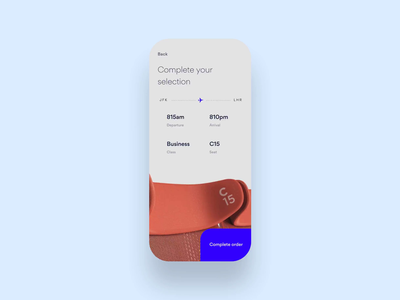 Virgin ticket booking product mobile motion flight app flight booking ticket flight invision invision studio interaction daily ui app animation