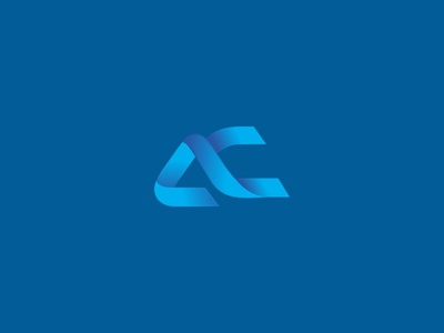 Andrade Castro logo gradient monogram