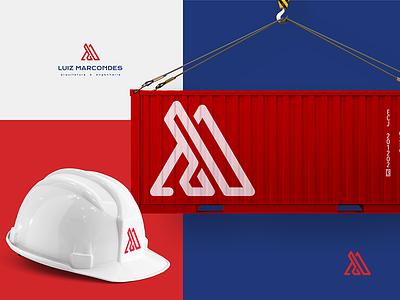 Luiz Marcondes Arquitetura e Engenharia architecture minimal logodesign logo