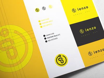 Ienzo Barber Shop Logo barber minimalist logodesign logo