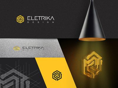 Eletrika light design eletric design logotype logodesign logo