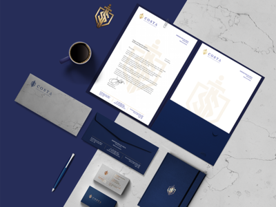 Costa Law Firm monogram stationery lawyers lawyer logotypo logo design branding logo