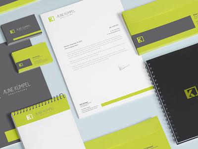 Aline Kumpel Arquietura stationery arquiterura architecture logo logodesign