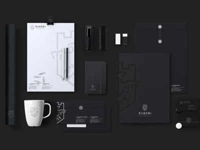 Raboni Engenharia engenharia stationery eagle logodesign logo