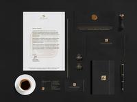Campos, Costa e Lobo Advogados lawfirm lawyer gold stationery logo advogados advogado