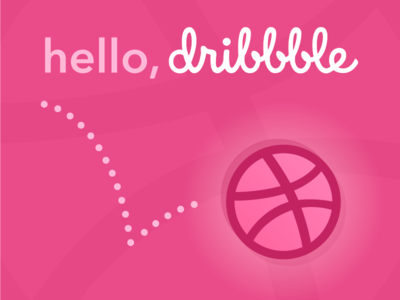 Hello, Dribbble first shot pink design thank you debut dribbble hello illustration