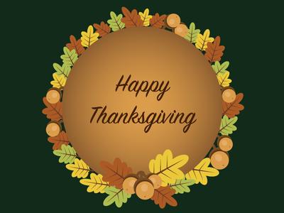 Happy Thanksgiving vector leaf acorn happy thanksgiving illustration holiday thanksgiving