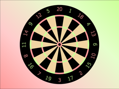 Dartboard vector graphic illustration game darts dart dartboard