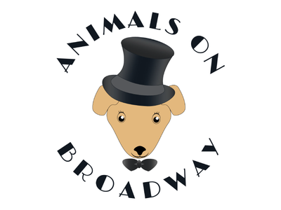 Animals on Broadway vector top hat bowtie graphic logo illustration broadway animals puppy dog