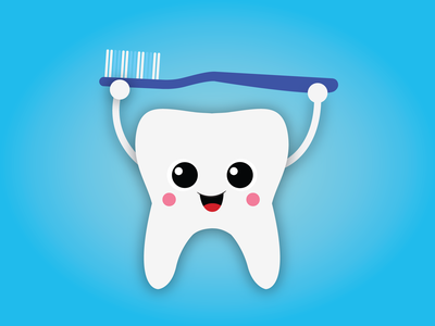 Happy Tooth smile graphic illustration design vectorart vector illustration toothbrush tooth