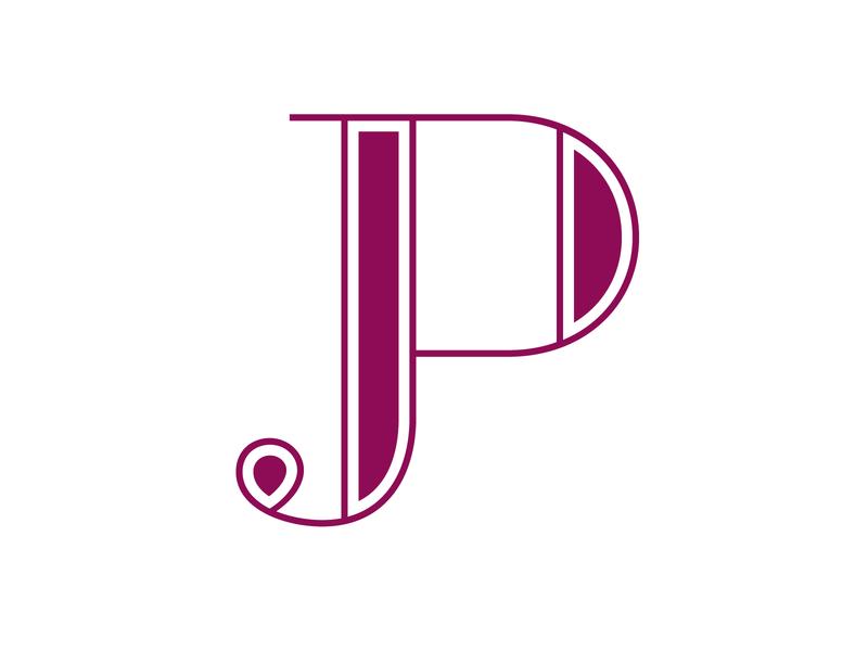 JP Logo Design branding graphic minimalist simple logo design vector typographic typography design initials logo