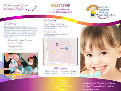 Danville Pediatric Dentistry branding typography graphic design print brochure design brochure