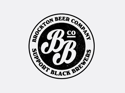Brockton Beer Co. branding typogaphy custom type beer logo logo design logo