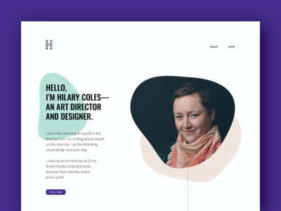 New Portfolio web design website digital visual design semplice portfolio