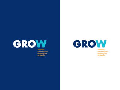 GROW Logo futura orange blue identity branding logo