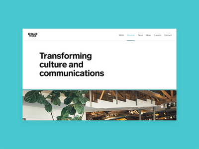 Brilliant Noise brilliant noise typography minimal desktop design website