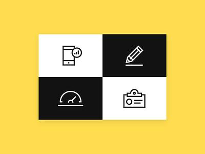 Sonar (Brilliant Noise) discipline creativity wellness community people flag pen pencil smiley icons iconography icon