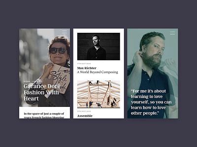 52 Insights fullscreen burger search news homepage design website mobile