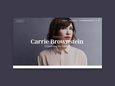 52 Insights typography minimal desktop design website