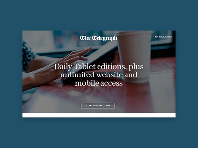 The Telegraph the telegraph typography minimal desktop design website