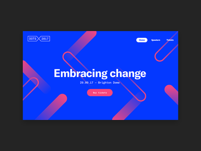 Dots 2017 conference design website mobile