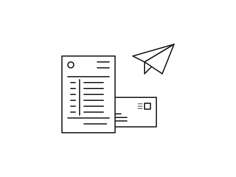 Invoice illustration invoicing invoice
