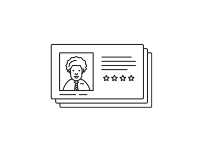 Customer license photo id illustration card profile customer
