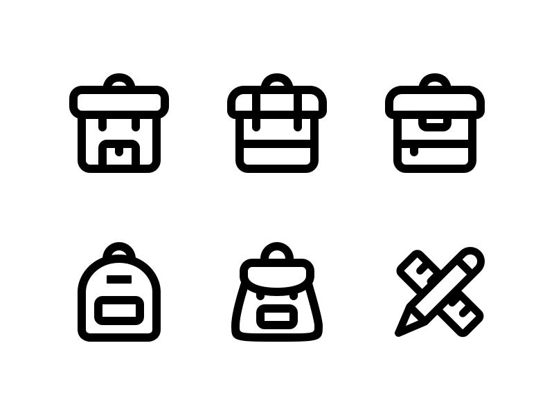 Backpacks and learning education learning udacity icons backpacks