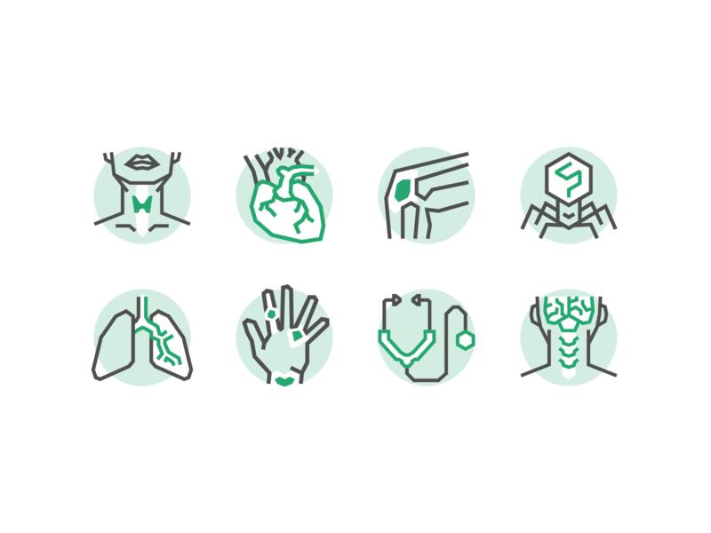 Specialties illustration healthcare specialties icons