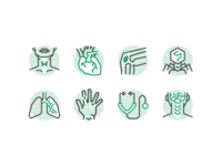 Specialties illustration healthcare specialties icons