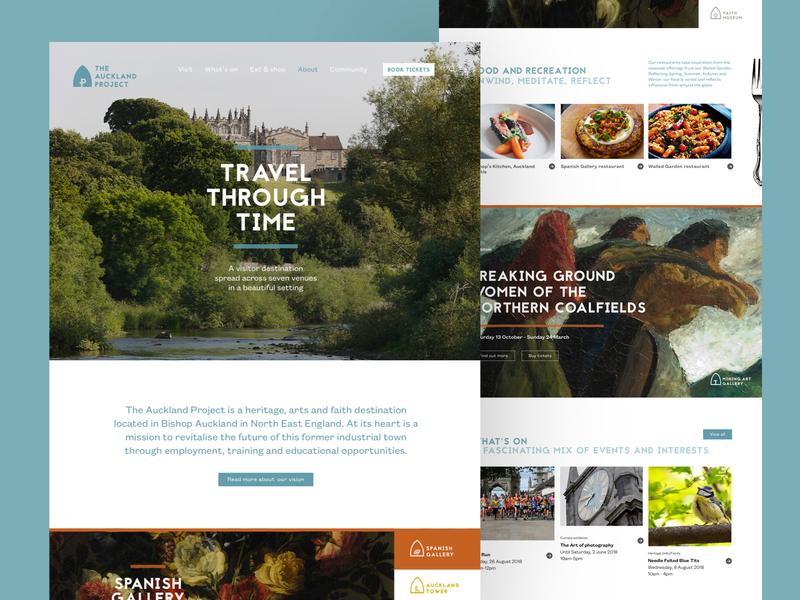 The Auckland Project historic blue clean responsive homepage desktop ux ui website web