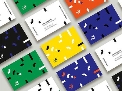 Riff (former Kant.13) •• Branding communication agency modular vector business cards branddesigner graphicdesign illustrator blackwhite logodesign color design handdrawn brand colour print graphic design logo branding