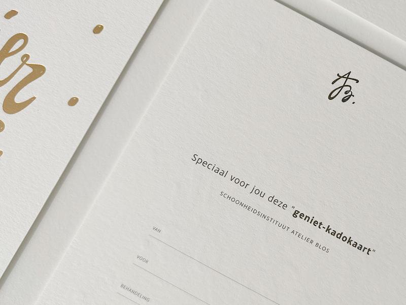 Atelier Blos - brand identity goldfoil logo designer typeface beauty institute mark monogram lettering type branddesigner typography illustrator handdrawn handlettering logodesign design brand print graphic design logo branding
