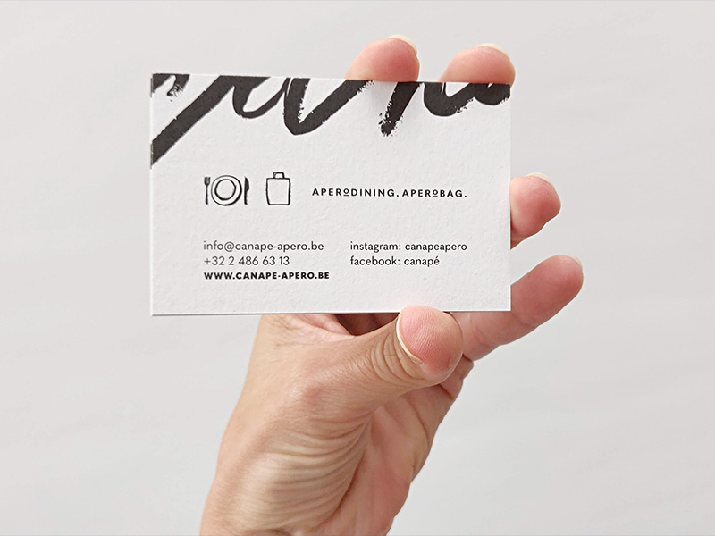 Canapé • Business Card graphicdesign illustrator design brandidentity lettering blackwhite logo designer logo branding brand brand designer graphic designer graphic design illustration icon handlettering handdrawn paper print businesscard
