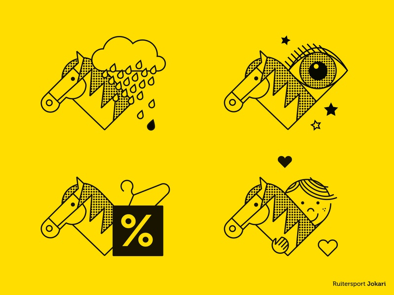 Different store department icons (equestrian shop) - 2/2 creative agency signs indication retail shop equestrian shop equestrian icon illustration vector graphicdesign illustrator logodesign design colour brand print graphic design logo branding
