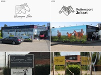 Before & after • branding Equestrian shop