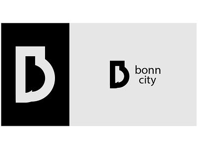 b for Bonn designer b minimalism city mark logo bonn