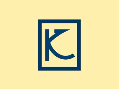 K Logo mark branding minimalist design typography bold logo k
