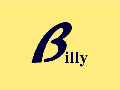 Billy logo b typography graphic designer branding classic bolg logo billy
