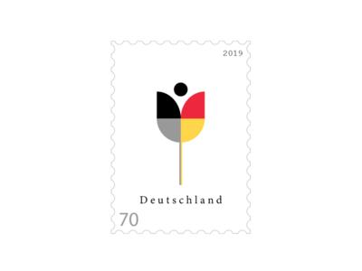 Stamp 🇩🇪 minimalist concept design proposal post land flower germany stamp
