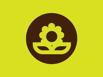 Buttercup minimalist branding logo design sprung spring buttercup flower