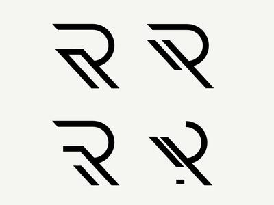 R typography mark bold minimalist designer branding r logo