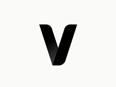 V affinitydesigner typography branding graphic mark bold designer black minimal logo v