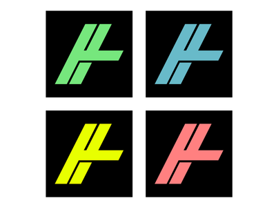 H illustrator designer branding minimalist colors logo h