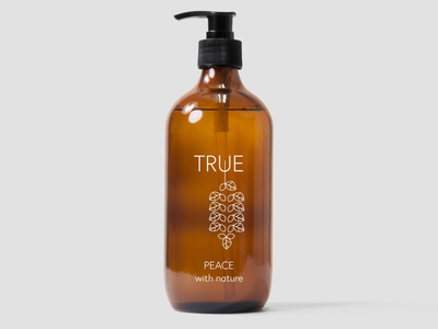 True soap logo graphic designer minimalist design soap branding