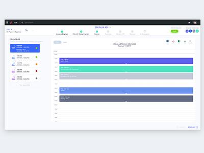Programme Step calendar event toolbar interaction grid data stepper wizard dashboard experience ui ux