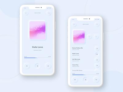 Neomorphism Music Player neomorphism music player mobile app trend ux ui figma music app