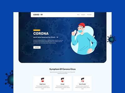 Covid 19 Landing page covid19 coronavirus website user interface landing page design landing page adobe xd homepage ux ui