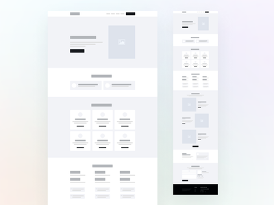 Agency Wireframe software agency illustration wireframe uilooks landing page design figma uiux software agency design ux ui landing page website homepage